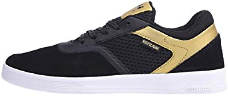 Supra Schuh: Saint Black Gold White BK  Billig und erschwinglich Im Verkauf