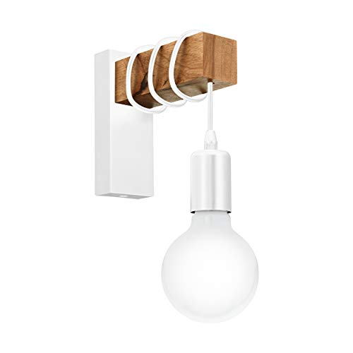 EGLO 33162 lámpara de pared, 10 W, Blanco, Madera