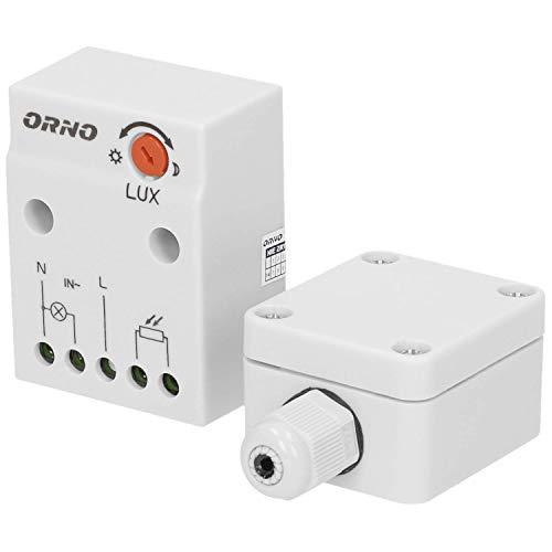 Anpassung Gehäuse (Orno CR- 232 Dämmerungsschalter Aussen mit externer Sonde im Gehäuse || Lichtstärke LUX Anpassung || Schutzart : IP65)