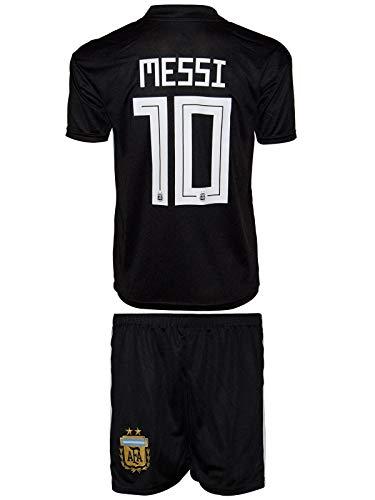 Argentinien Fußball Trikot (Summersport Argentinien Messi # 10 Fan Shirts Auswärts Trikot und Shorts Kinder und Jugend Größe (164-11-12 Jahre))