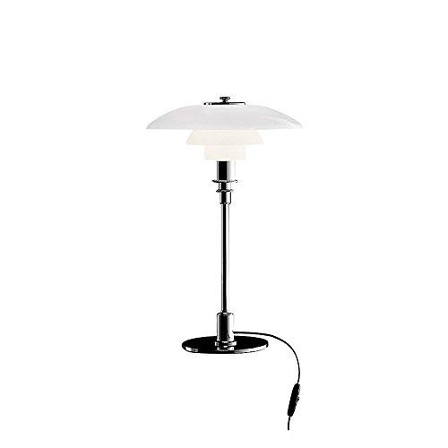 Louis Poulsen PH 3/2 Tischleuchte, chrom glänzend Schirm glas - Louis Poulsen Beleuchtung