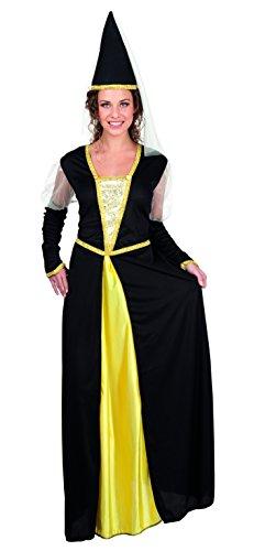 Boland 83811 - Dama Medievale Lady Isolde Costume Donna, Nero/Giallo, M