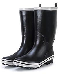 Botas para la nieve unisex para adultos Zapatos de lluvia Botas para hombres Pisos de goma