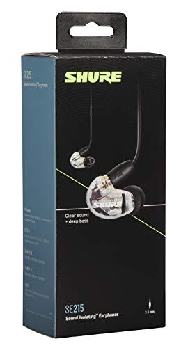 Shure SE215 In Ear Kopfhörer mit Sound Isolating Technologie, 3, 5-mm-Kabel, Fernbedienung und Mikrofon - Premium Ohrhörer mit warmem & detailreichem Klang - Klar - 4