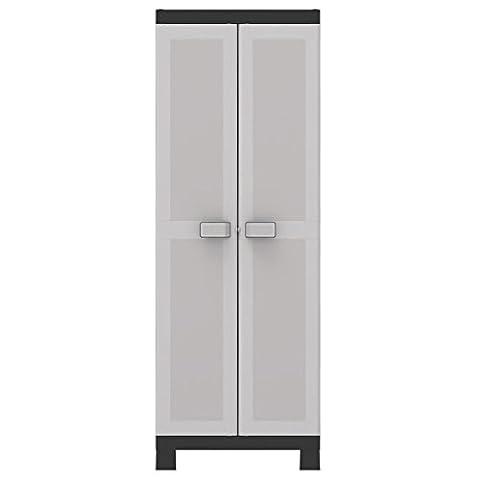 KIS Logico Garage Cabinets (Universal Floor Standing Black Grey Hinged Door)