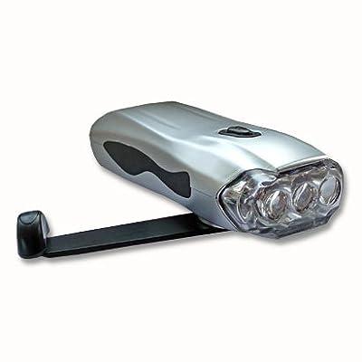 LED Taschenlampe Leuchte mit Dynamo & Handy Ladegerät!!