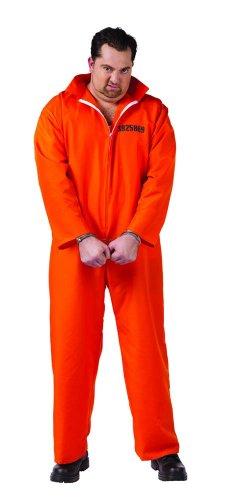 Got Busted Jail Inmate Prisoner Jumpsuit Costume Plus Adult Plus Size
