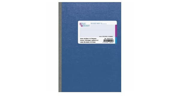 K+E Kladde A5 liniert 96 Blatt Register A-Z Spezialpappe blau