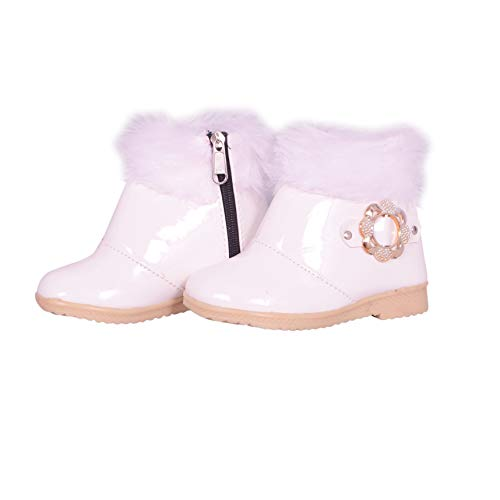 Fashion shoes Baby Girl's White Leather Long Shoes (6-12 Months)