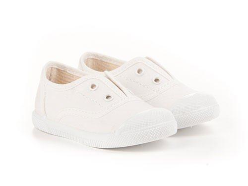 Chaussures enfants unisex en toile fabriquées en Espagne, garantie de qualité Blanc Cassé - blanc