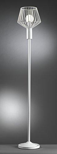 Onli–Stehlampe/Stehleuchte Kollektion Tommy. Struktur aus Metall Weiß. Modern, Urban, Original. Ideal für Wohnbereich, Wohnzimmer und Schlafzimmer. 1x E27