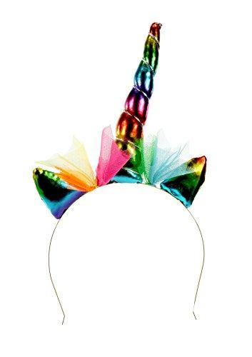 Preis am Stiel Haarreif Einhorn Regenbogen   Kopfschmuck   Regenbogeneinhorn   Geschenkidee für Mädchen   Haarreifen   Regenbogen   Kostün Zubehör   Karneval   Haarschmuck   Kopf Deko   ()