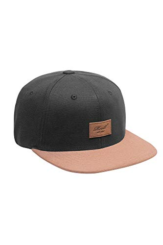 Reell Cap Suede 6-Panel Cap, Black, Einheitsgröße - 6-panel-ball-cap
