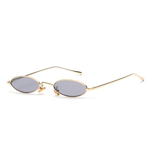 3131ecd9c1c6a6 Brillen Retro Sonnenbrille Für Männer und Frauen Gläser Laufsteg Freizeit  Reisen Oval Weiß Gold.