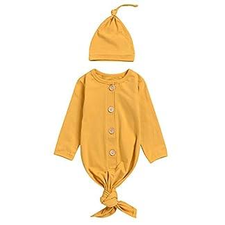 mtxtechnology Bebé recién Nacido camisón de Manga Larga a Rayas Bata de bebé Saco de Dormir con Sombrero para bebé niña