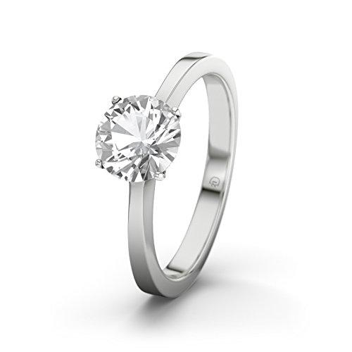 21diamonds-womens-ring-lagos-white-topaz-diamond-engagement-ring-silver-engagement-ring-silber-mit-w
