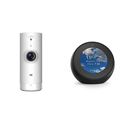 Echo Spot negro + D-Link DCS-8000LH – Cámara IP WiFi de vigilancia con acceso desde móviles, grabación de vídeo en la nube y en el móvil, HD 720p, H.264, compatible Amazon Alexa y Google Home, para iOS/Android