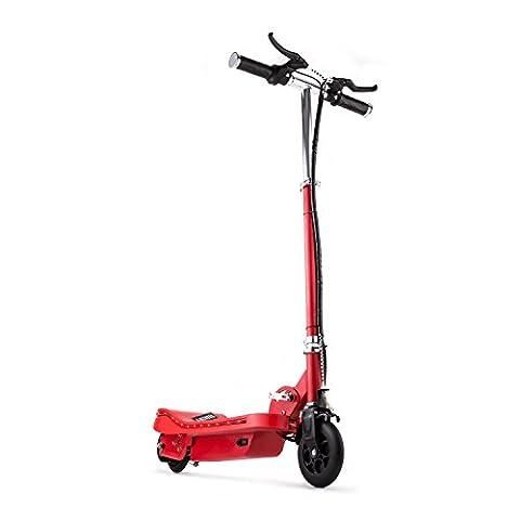 Electronic Star V6 E-Scooter Elektroroller (mit LED-Band, 16 km/h Höchstgeschwindigkeit, umweltfreundlich, 120 Watt Elektro-Motor, klappbar, bis zu 16 km Reichweite) rot
