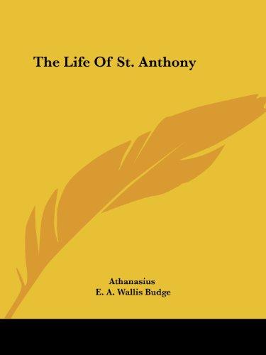 The Life of St. Anthony por Athanasius