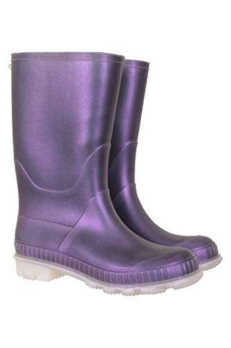 Mountain Warehouse Plain Kids Wellies - Durable Sole Childrens Wellington Boots, PVC Outer Rain Shoes, Soft Jersey Lined - for School, Walking, Outdoors