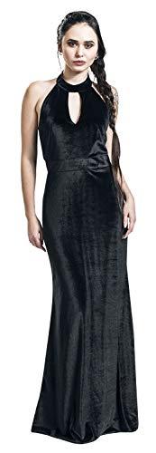 Dolly and Dotty Eleanor Velvet Halterneck 50's Evening Dress Langes Kleid schwarz 3XL -