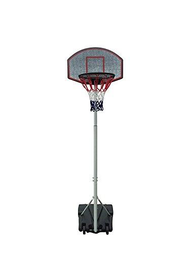 Foto de IUNNDS- Canasta de baloncesto portátil con ruedas, ajustable de 165 a 210 cm, hombre Unisex mujer Infantil, blanco
