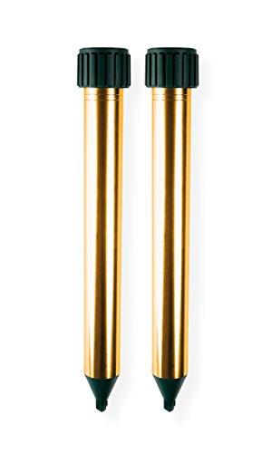 ISOTRONIC-Maulwurfabwehr-Vibrasonic-2er-Pack-NEU-mit-Vibrationsmotor-batteriebetrieben-Whlmausfrei-Whlmausschreck-Whlmausvertreiber-Whltierfrei-Maulwurfschreck-Schlangenabwehr