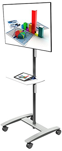 Dataflex 52.712 ViewMate Combo AV Trolley für Monitor Silber (Tv-ständer-combo)