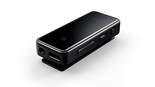 FiiO BTR3 récepteur de Musique de Bluetooth 30 m Noir - Récepteurs de Musique de Bluetooth (Batterie/Pile, 300 mAh, 11 h, 1,5 h, 25 mm, 10,4 mm)