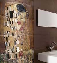 Faience murale decor mural de Klimt 60x150cm - unite