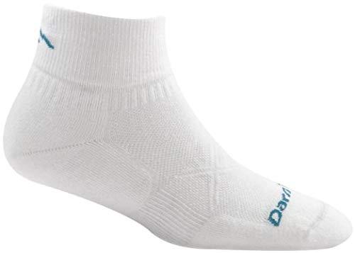 Darn Tough Vertex Quarter Crew Ultralight Cushion Socks - Women's White Large -