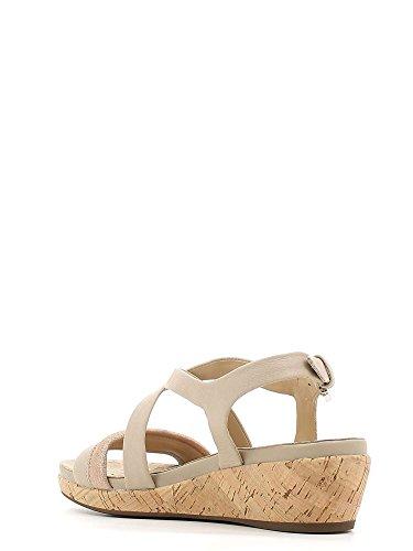 Geox D62p6c 085ky Sandales Compensées Femme Taupe