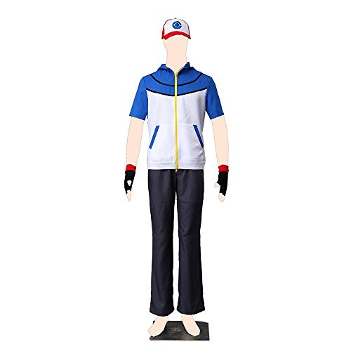 Dream2Reality Pokemon Cosplay Kostuem Ash Ketchum Cloth Kid Large