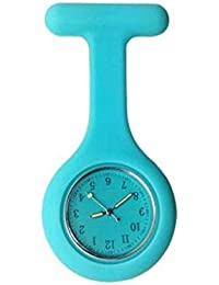 vfgbdtjn Reloj de Bolsillo de Enfermera de Silicona con Clip/Clip, Color Oscuro y Broche médico, Sapphire Blue, 8x4x0.8cm