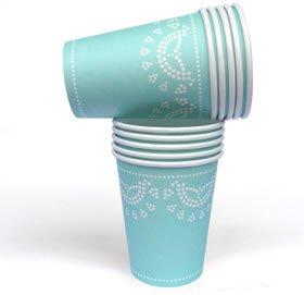 her mit Weißem Spitzen-Perlen-Muster in Mint-Grün (Picknick-party-thema)