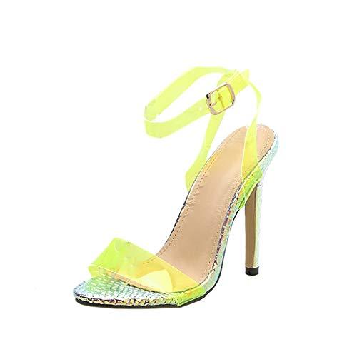 Eaylis Damen Einfarbig Transparente Stiletto Sandalen Freizeitschuhe