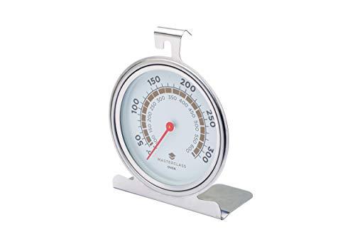 Masterclass Termómetro para Horno 50º a 300ºc, Acero Inoxidable, Plateado, 11x17.3x4 cm