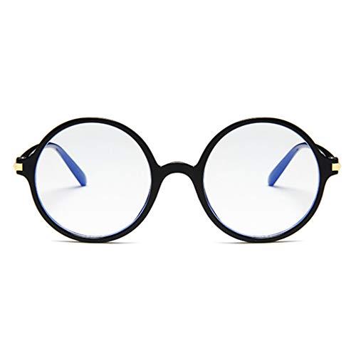 PANGHU Herren + Damen Modische Klare Gläser Brille Metallrahmen Runde Brille Retro Brille FARBWAHL