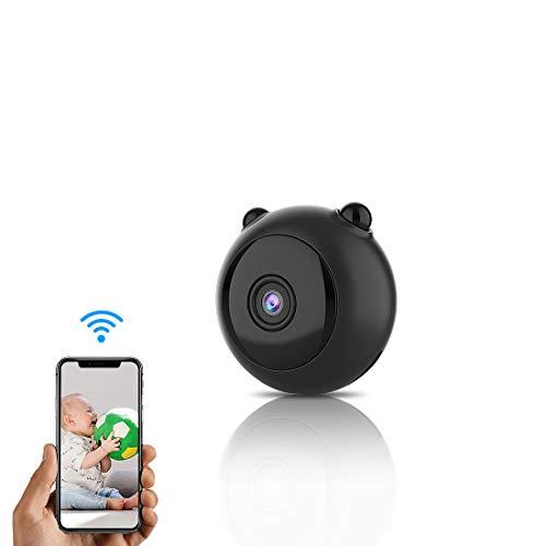 TODAYI Mini-Kamera Mini Wireless WiFi-Kamera HD 1080P Indoor Home Kleinste Mini-Nanny Cam-Überwachungskameras batteriebetrieben mit Bewegungserkennung/Nachtsicht für iPhone/Android-Telefon/iPad/PC
