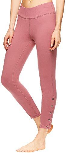 gaiam Damen 7/8 Yoga-Hose, hohe Taille, Kompressions-Workout-Leggings - Pink - X-Groß -