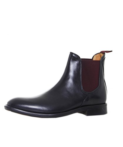 Oliver Sweeney Hommes Finch Chelsea bottes en cuir Noir Noir