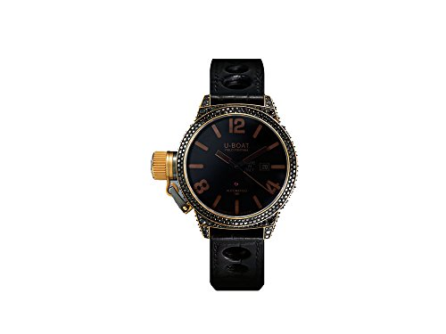 Reloj Automático U-Boat Black Swan, Oro 18k, Diamantes, 45mm, 8000