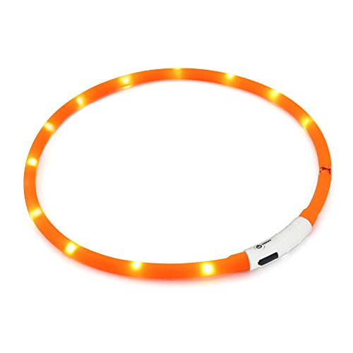 KABB Collar de Perro de Seguridad LED Intermitente Collar con USB batería...