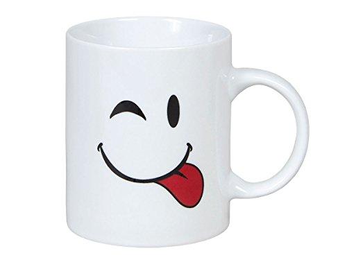 Tasse Funny Face Smilie Kaffeetasse Kaffeebecher mit Gesicht Porzellan von Alsino 10 x 8 cm, Variante wählen:78/8262-4