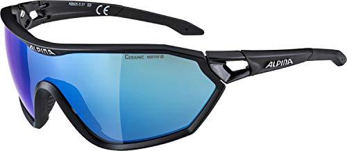 ALPINA Erwachsene S-Way cm+ Sportbrille, Black matt, One Size