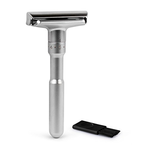 Maquinilla de afeitar clásica de doble filo y calidad ajustable, 1PC