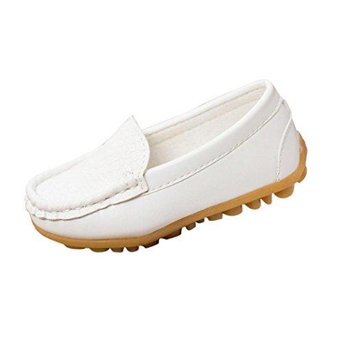 Webla Kinder Schuhe Casual Sneakers Schuhe Jungen Sport Schuhe Sneakers Bootsschuhe (21, Weiß)