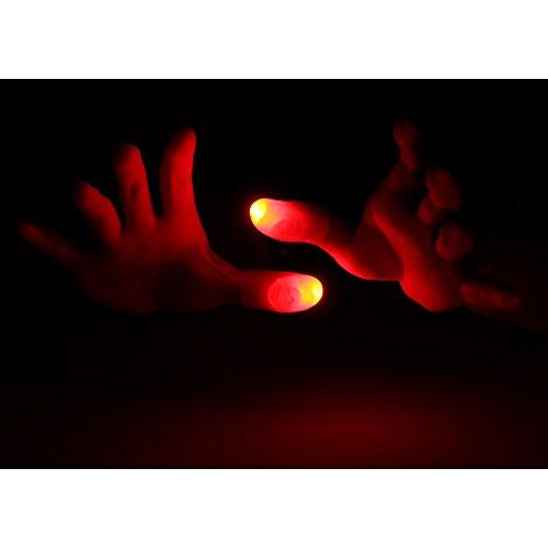 Goolsky LED Finger Lampe Daumen Licht Magie Licht Finger Zaubertrick Gefälschter Finger (Led Finger Licht)
