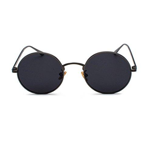 87c4cda6f2 Inlefen Gafas de sol de marco redondo de metal Gafas de sol de ...