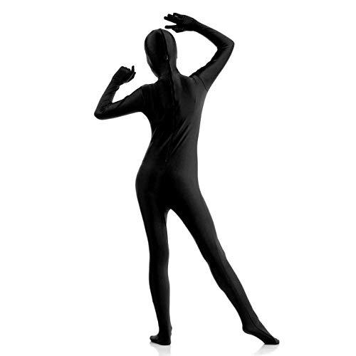 Kostüm Cosplay Zentai - Faletony S-XXL Erwachsene Zentai Cosplay Bodysuit Ganzkörperanzug Unisex Tight Bodysuit Kostüm für Party Halloween Weihnachten, Schwarz (XXL)